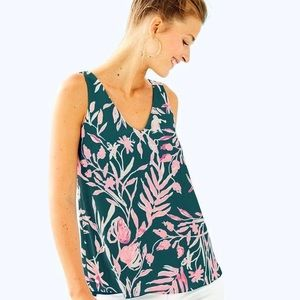 Lilly Pulitzer Reversible Florin Top Xs